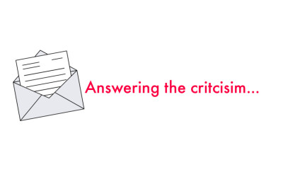 Answering the Criticism